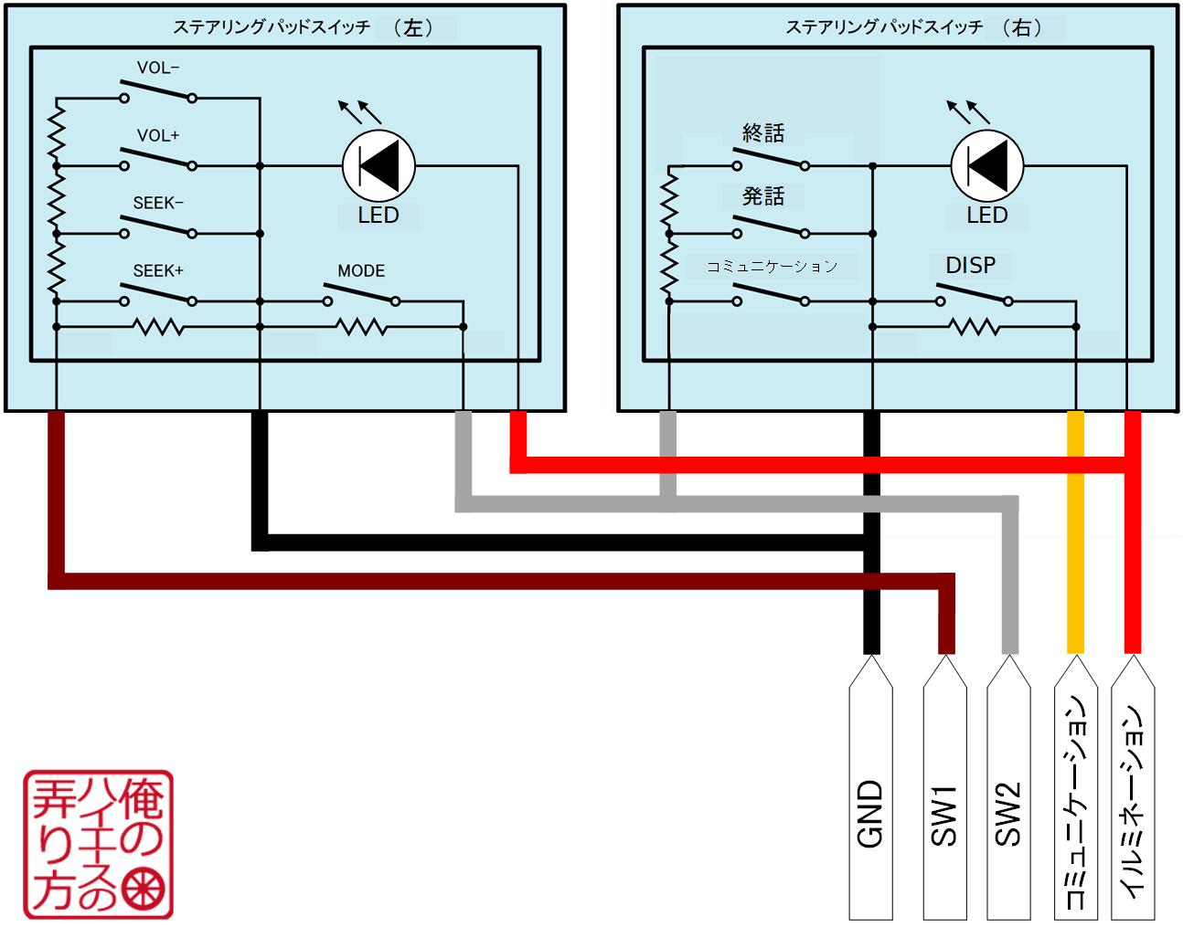 ハイエース変更後ステアリングスイッチの内部回路.png